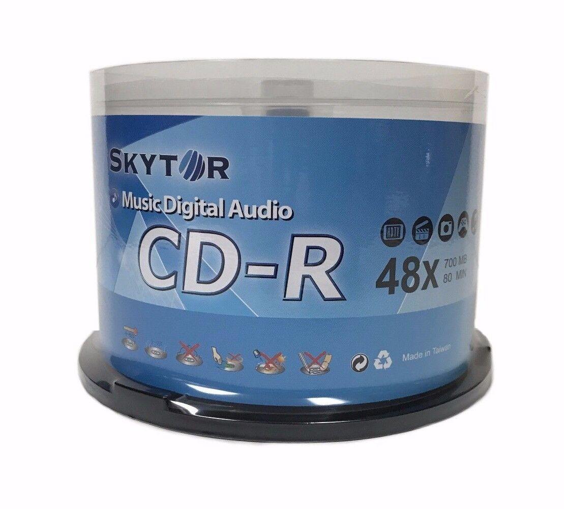 50 SKYTOR Blank 48X Audio Digital Music CD-R 80min Branded L