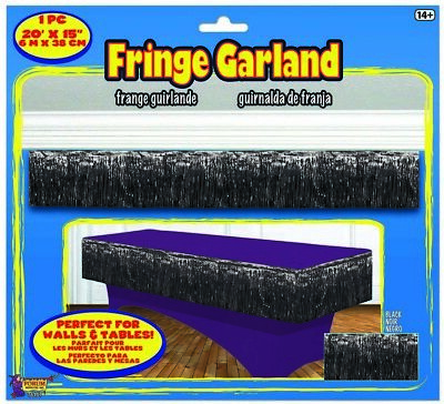 Black Tinsel Fringe Party 20 Foot Decoration Garland](Black Tinsel)