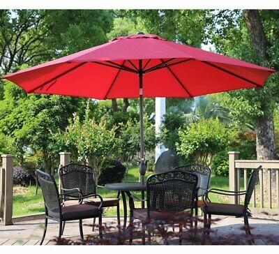 Abba Patio 11-Feet Patio Umbrella with Push Button Tilt and Crank, 8 Steel Ribs