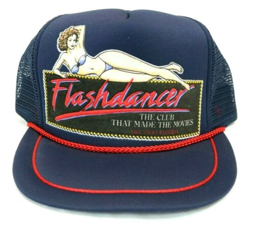 Vintage Snapback Trucker Hat Flashdancer Bikini Model Logo Rare Mesh
