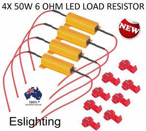 4X LED LOAD RESISTOR 12V LIGHTS FRONT REAR INDICATORS FLASHER CAR 4WD UTE