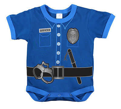 Police uniform policeman Halloween Costume infant baby 3 6 12 months t-shirt