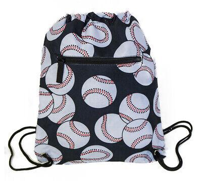 Baseball Theme Womens Drawstring Backpack Gym Bag String Cinch Print Mom Boys](Baseball Theme)