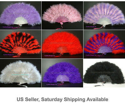 Feather Fan, Turkey Marabou Feather Fan, 9 colors to pick up from, New!