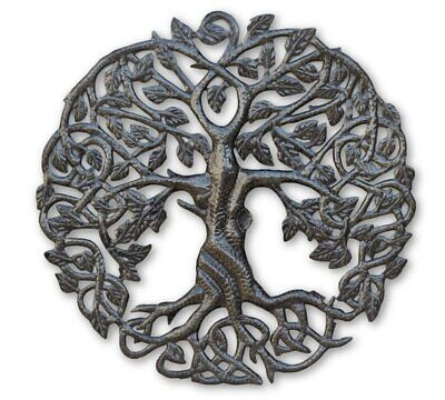 "Small Tree of Life Celtic 17"" Decorative Artwork Metal Wall Hanging Handmade"
