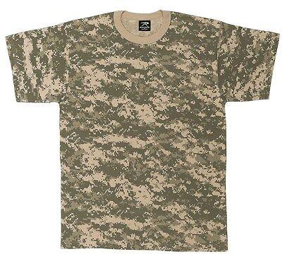 Mens ACU Digital Camouflage MENS T-Shirt, ACU Digital Camo by Rothco S TO 4X Acu Digital Camouflage T-shirt