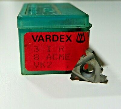 5 Pieces Vardex 3ir 8acme Vk2 Carbide Inserts  F459