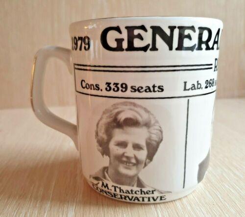 VINTAGE Margaret Thatcher - United Kingdom 1979 General Election Coffee Cup Mug