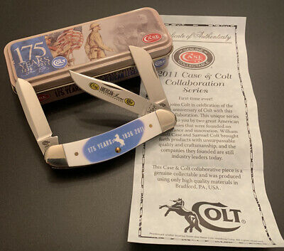Disc. CASE XX ~ COLT AMERICAN ICONS SOWBELLY STOCKMAN KNIFE SS NEW OLD STOCK