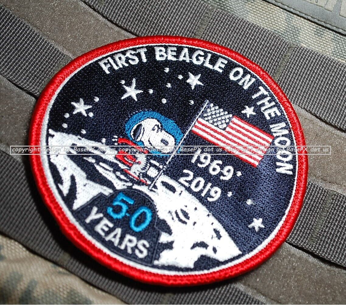 MOON LANDING 50TH ANNIVERSARY 1969-2019 Iron On Patch Event History