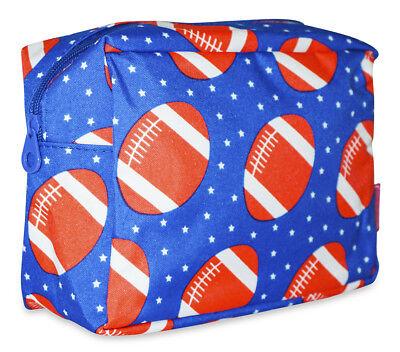 Football Designer Travel Cosmetic Makeup Case Pouch Make Up Women Purse ](Football Makeup)