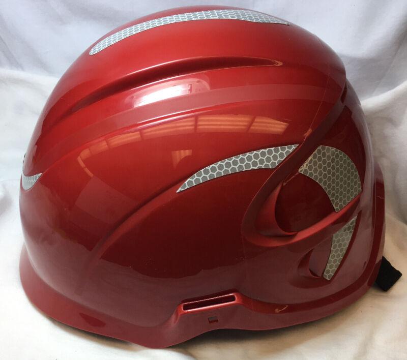 MSA 10186487 Nexus Linesman Vented Climbing Helmet, Red