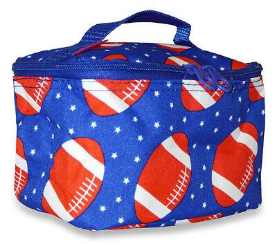 Football Small Designer Travel Cosmetic Makeup Bag Case for Purse Make Up Women](Football Makeup)