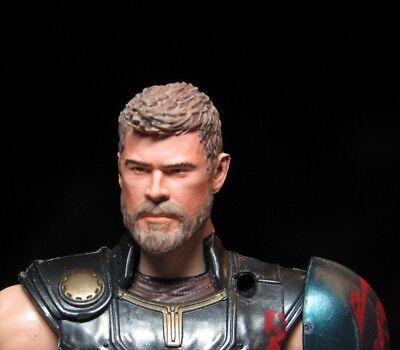 RETIRE HEAD ONLY Marvel Legends Custom painted Head Thor helmetless