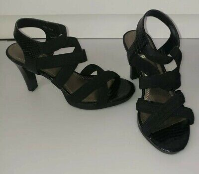 """Impo Stretch """"Theory"""" Sandals,Black/ Size 7,5 M"""