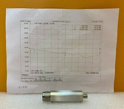 Microwave Semiconductor Corp Msc Mc65190 10 Mhz To 18 Ghz Noise Source. New