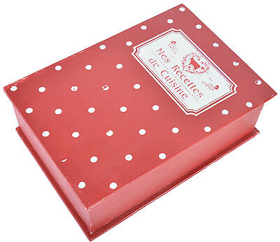 Cute Retro RECIPE Book Polka Dots 50s Rezeptbuch Rockabilly SAB-4749 ()