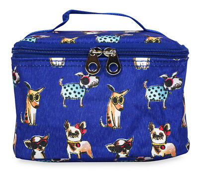 Jenzys Fashion Dog Cute Small Designer Travel Cosmetic Makeup Bag Case Make Up