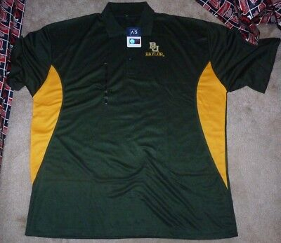 newest 21e51 f2c1e NEW NCAA Baylor Bears Golf Polo Shirt Men 2XL XXL Poly NEW NWT
