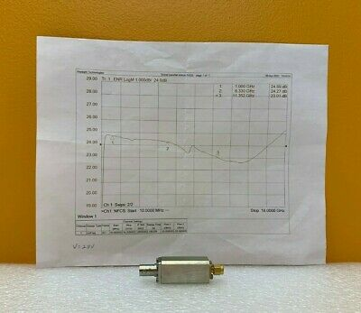 Noisecom Nc3208 1 To 18 Ghz 24 Db Enr 28 Vdc Noise Source. Tested Data