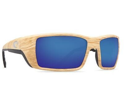 New Costa del Mar Permit Polarized Sunglasses Ashwood/Blue Mirror 580P (Costa Del Mar Permit Sunglasses)