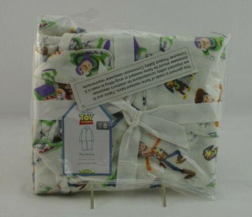Pottery Barn Kids Pajama Set Flannel Toy Story White Size 6