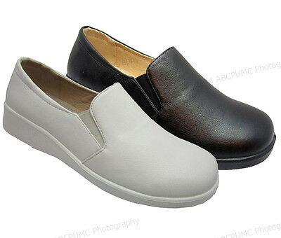 Womens Comfort Shoes Hotel Restaurant Walking Slip On Loafers Slip/Oil Resistant