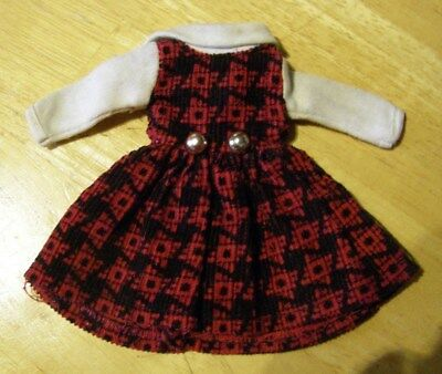 Vintage American Character Cricket Doll Red School Days Dress Tressy Sister G/Ex