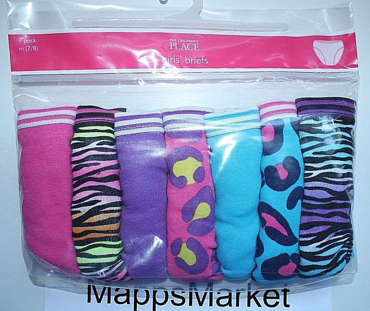 NWT Authentic The CHILDREN'S PLACE 7-Pack Girls Briefs Sz M
