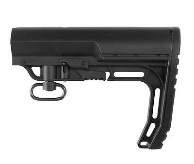 New Black MFT Minimalist Stock Tactical Rife Adjustable Scorched Mil-Spec