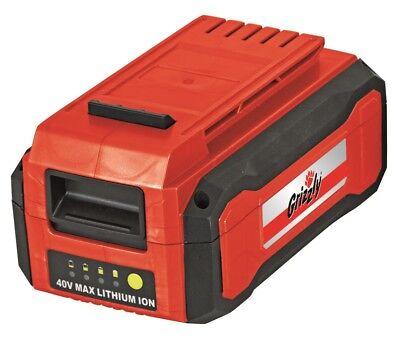 Grizzly Ersatzakku 40 V, 4,0 Ah (144 Wh) passend für alle Geräte aus mit 40 V