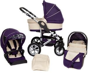 Baby  Pram  Pushchair  Buggy  Stroller + Car Seat  Travel System  3 in 1 New