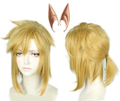 Legend Of Zelda Link Wig (The Legend of Zelda: Breath of the Wild Link Wig Halloween Wig with Elf)