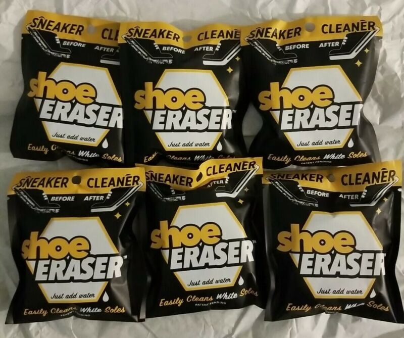 Lot of 6 SNEAKER CLEANER Shoe Eraser Easily Cleans White Soles just add water