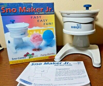 Hawaiian Ice Sno Maker Jr. Sno Cones Slushes Drinks Back To Basics Free Shipping