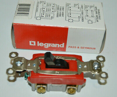 Legrand Ps20ac1bk Commercial Single Pole Switch Redblack 20a 120277vac New