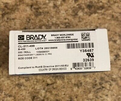 LS2000 and BradyMarker XC Plus 1.625 Width x 0.75 Height LS2000 and BradyMarker XC Plus 1.625 Width x 0.75 Height 250 per Roll Matte Finish Silver with 1//16 Black Border Label B-969 Metallized Polyester Brady CL-317-969-BK I.D PRO Plus