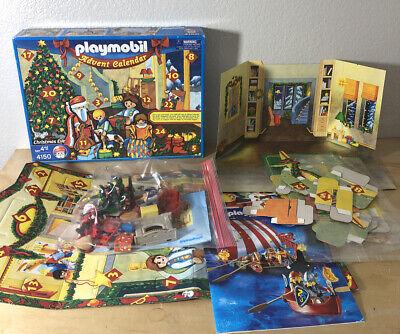 Playmobil Christmas Eve Advent Calendar 4150 Play Set Incomplete