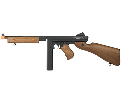 CYBERGUN Thompson Full Metal M1A1 WW2 AEG Airsoft Rifle by King Arms 43900 King Arms Aeg