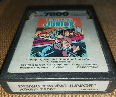 Donkey Kong Junior Jr Atari 7800 game