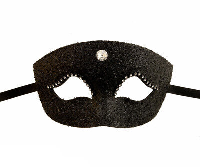 Mask from Venice Colombine Fierce-Yet-Sexy!*** Black for Prom Venetian 1021 CA2C
