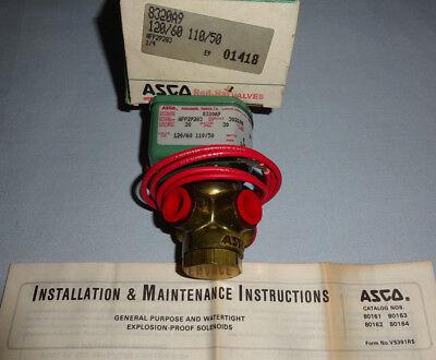 Asco 8320a9 Solenoid Valve 3 Way 14 Npt Coil 120 Vac New