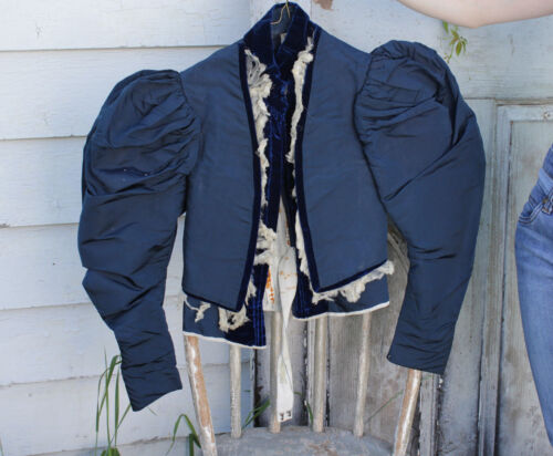 Victorian Antique blue French bodice woman