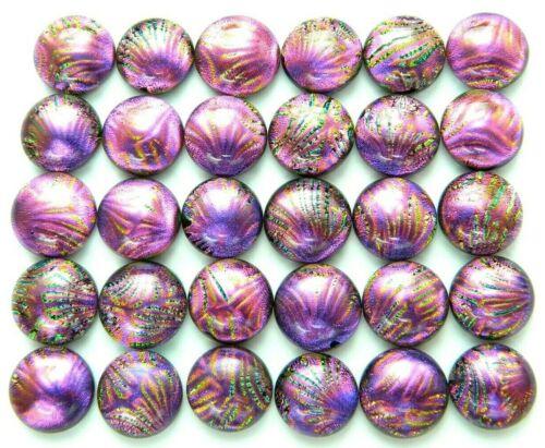 Lot 30 pcs round gorgeous DICHROIC earrings bracelet FUSED GLASS (BA19) CABOCHON