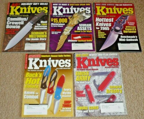 Lot of 5 KNIVES ILLUSTRATED Magazines 2005 Volume 19 #1 #2 #3 #4 #5