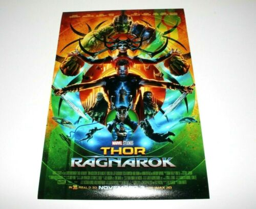 DIRECTOR TAIKA WAITITI SIGNED THOR: RAGNAROK 12x18 MOVIE POSTER B w/COA MARVEL