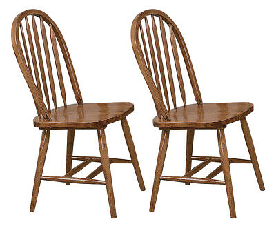 Dark Oak Dining Room (Dining Chairs Arrow Back Style Dark Oak Wood Finish Kitchen Diner Game Room   )