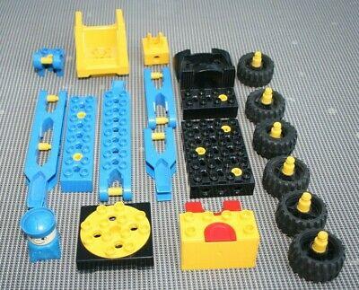 Lego Duplo Toolo VEHICULE CHANTIER CONSTRUCTION GRUE ROUES DIVERS VINTAGE V4