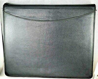 Day-timer Entrepreneur Edition Black Leather 3- Ring Binder Zipper 12.75x10.5