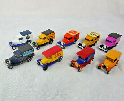 MATCHBOX FORD MODEL 'A' AND MODEL 'T' LOT OF 9 CARS
